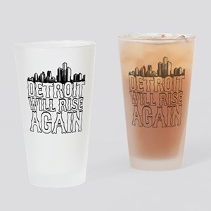 Detroit Will Rise Again Drinking Glass