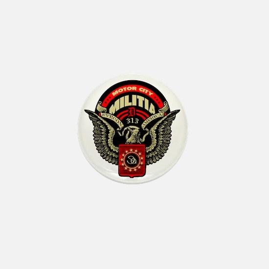 Motor City Militia 313 Detroit Shirt Mini Button
