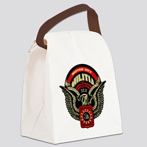 Motor City Militia 313 Detroit Sh Canvas Lunch Bag