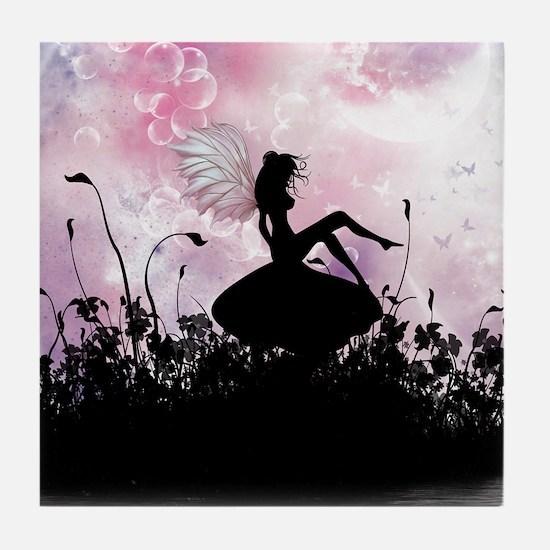 Fairy Silhouette Tile Coaster