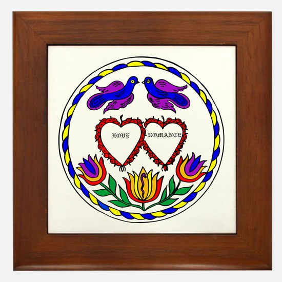 Romance Hex Framed Tile