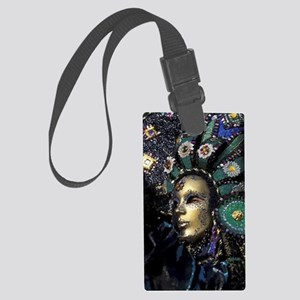 New Orleans Mardi Gras Mask Large Luggage Tag