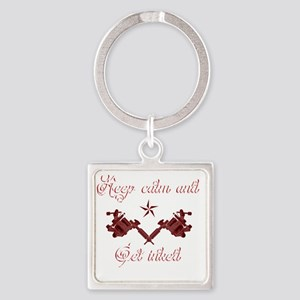 Keep calm and get inked Square Keychain