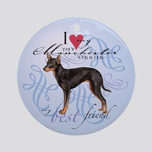 Toy Manchester Terrier Ornament (Round)