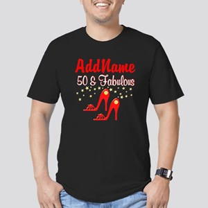 RED HOT 50TH Men's Fitted T-Shirt (dark)