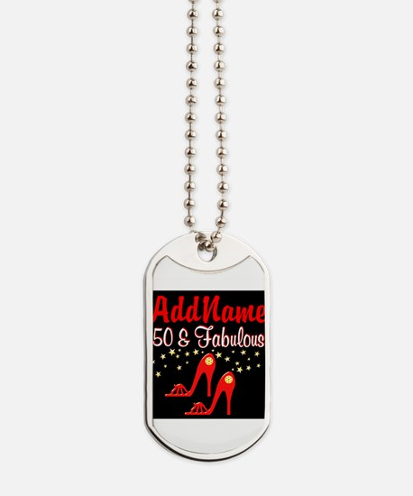 RED HOT 50TH Dog Tags