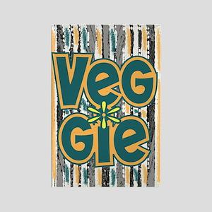Veggie Vegetarian Rectangle Magnet