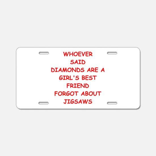 JIGSAW Aluminum License Plate