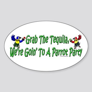 Grab The Tequila Oval Sticker