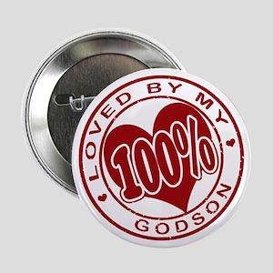100% Loved by my GodSon Button