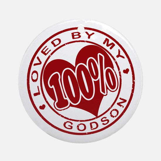 100% Loved by my GodSon Ornament (Round)