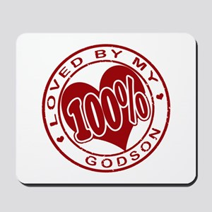 100% Loved by my GodSon Mousepad