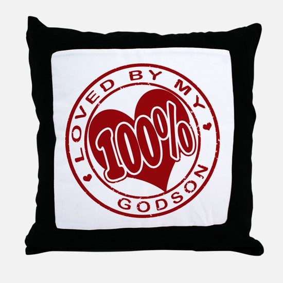 100% Loved by my GodSon Throw Pillow