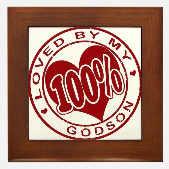 100% Loved by my GodSon Framed Tile