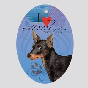 Toy Manchester Terrier Oval Ornament