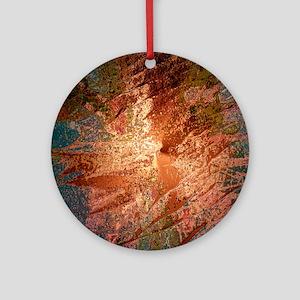 creamy colors bronze Ornament (Round)