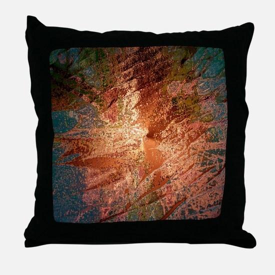creamy colors bronze Throw Pillow