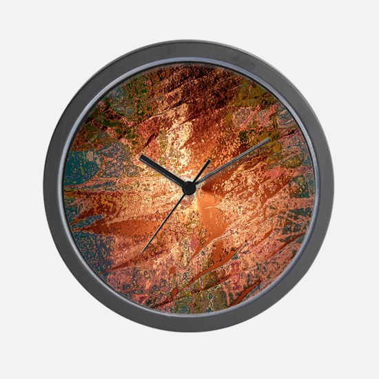 creamy colors bronze Wall Clock