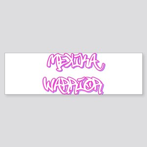 Mexika Warrior Female Bumper Sticker