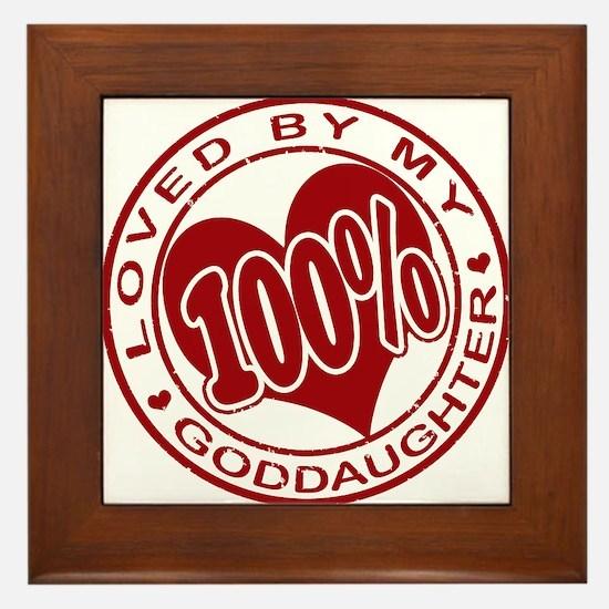100% Loved By My GodDaughter Framed Tile