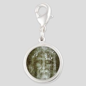 shroud Silver Round Charm
