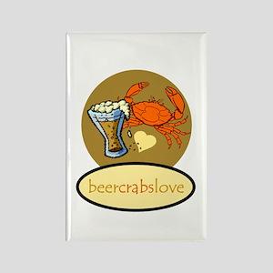 Beer & Crabs Rectangle Magnet