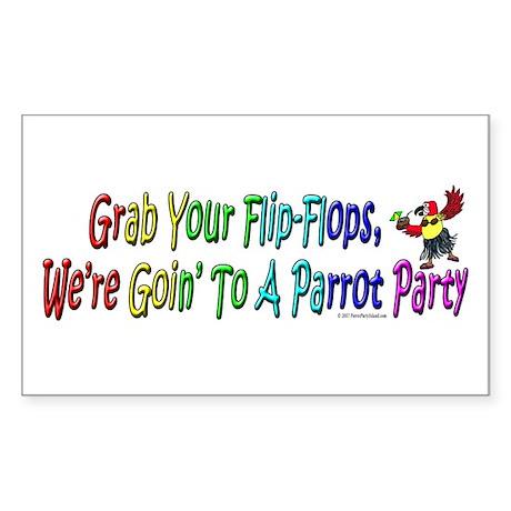 Grab Your Flip-Flops Rectangle Sticker