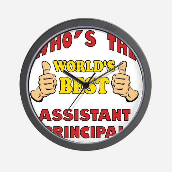 Thumbs Up Worlds Best Assistant Princip Wall Clock