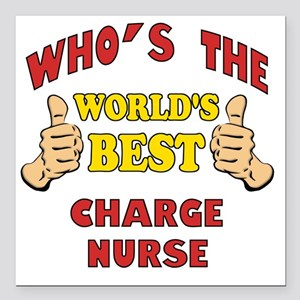 "Thumbs Up Worlds Best Ch Square Car Magnet 3"" x 3"""