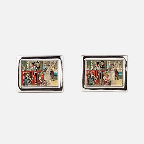 Carl Larsson artwork: A Day of Celebrati Cufflinks