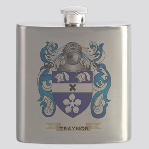 Traynor Family Crest (Coat of Arms) Flask