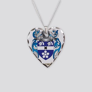 Traynor Family Crest (Coat of Necklace Heart Charm