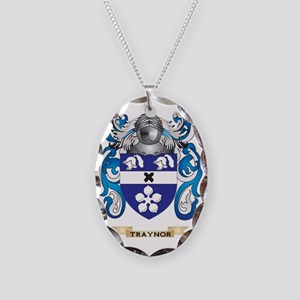 Traynor Family Crest (Coat of  Necklace Oval Charm