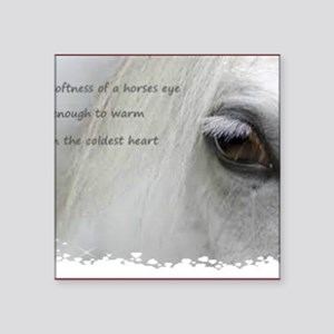 """The softness of a horses ey Square Sticker 3"""" x 3"""""""