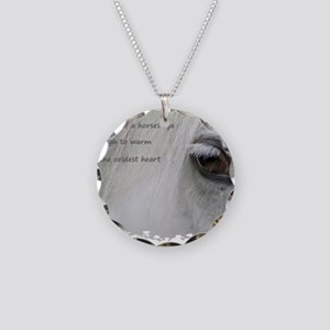 The softness of a horses eye Necklace Circle Charm