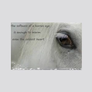The softness of a horses eye Rectangle Magnet