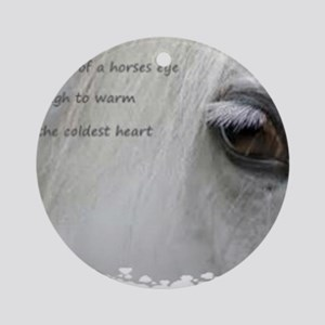 The softness of a horses eye Round Ornament
