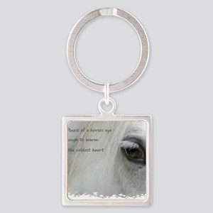The softness of a horses eye Square Keychain