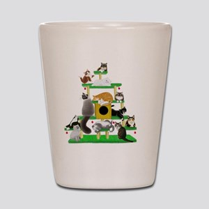 Christmas Cat Tree Shot Glass