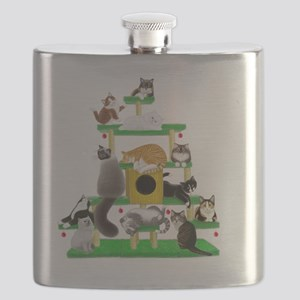 Christmas Cat Tree Flask