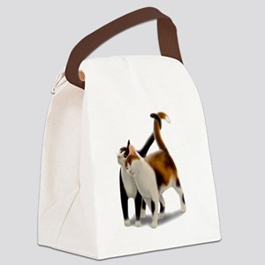 Kitty Cat Friends Canvas Lunch Bag
