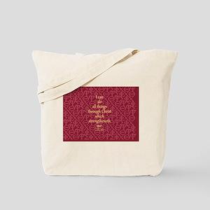 Philippians 4:13 ixoye rose Tote Bag