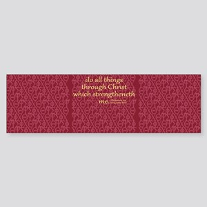 Philippians 4:13 ixoye rose Sticker (Bumper)
