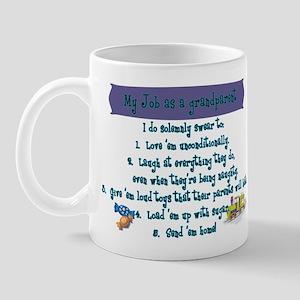A Grandparent's Job Mug