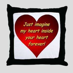My Heart Inside Your Heart Throw Pillow