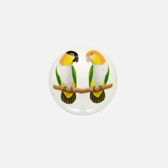 Caique Parrot Love Mini Button