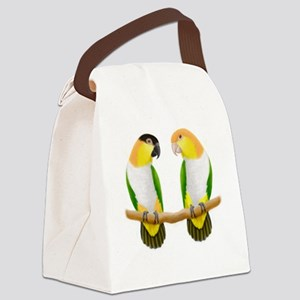 Caique Parrot Love Canvas Lunch Bag