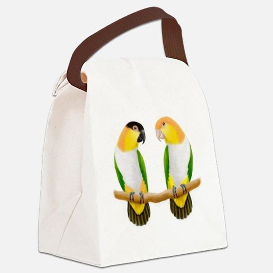 Caique Parrot Love Canvas Lunch Bag