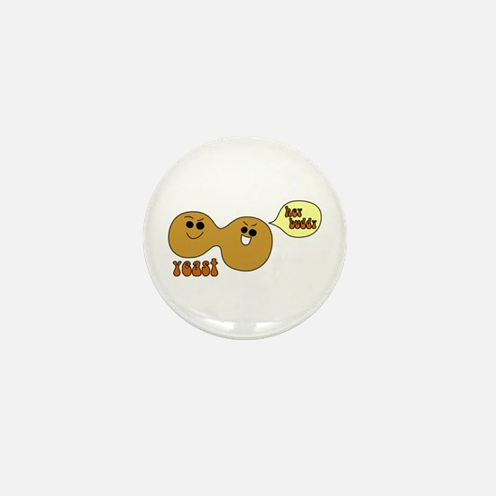 Yeast Buddies Mini Button
