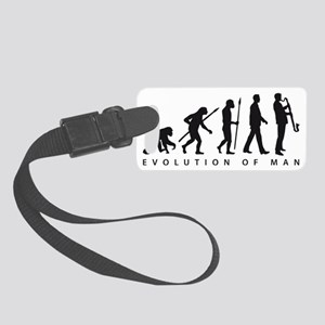 evolution of man bass clarinet p Small Luggage Tag